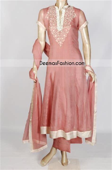 pakistani simple pink anarkali dress