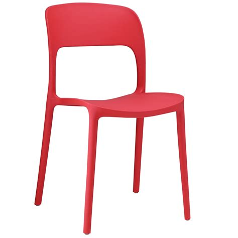 hop modern stackable plastic dining side chair