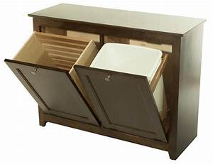 Waste Bin/Hamper Tilt Out : 390-W02850-103-O : Wood