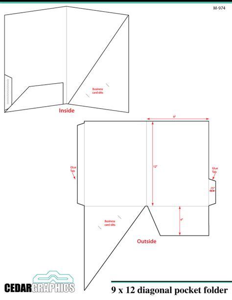 How To Plan A 9 X 12 Diagonal Pocket Folder