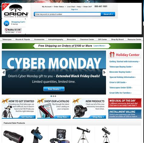 cyber monday l deals orion telescopes and binoculars black friday and cyber
