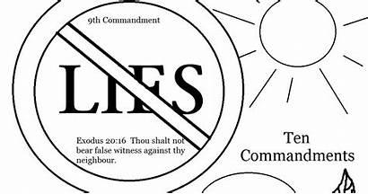 Thou Shalt Lie Coloring Commandments False Witness