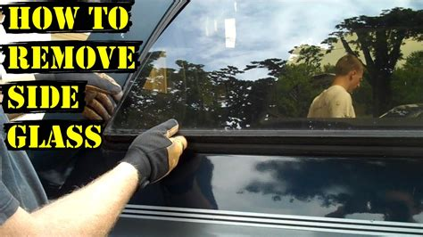 How To Remove Suburban Rear Side Glass (fast!) Youtube