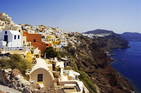 Top World Travel Destinations Santorini Greece Popular