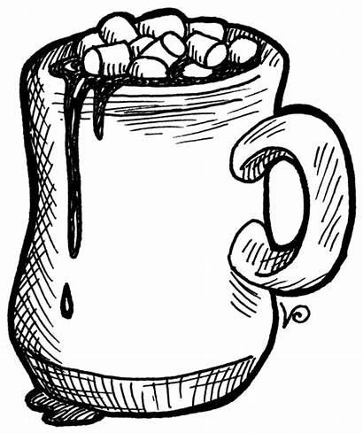 Chocolate Cocoa Clipart Coloring Alabama Drawing Mug