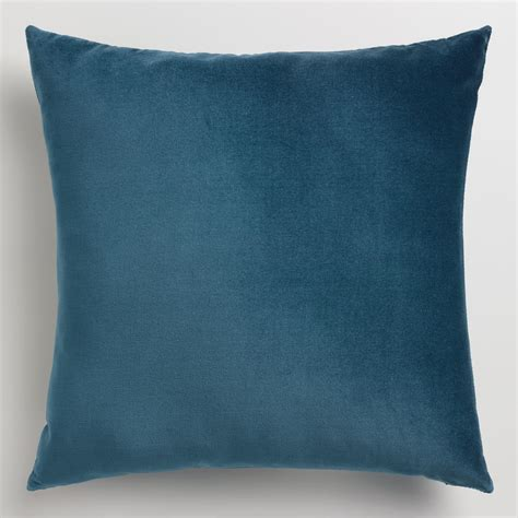 blue and throw pillows midnight blue velvet throw pillow world market