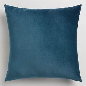 midnight blue velvet throw pillow world market With blue throws and cushions