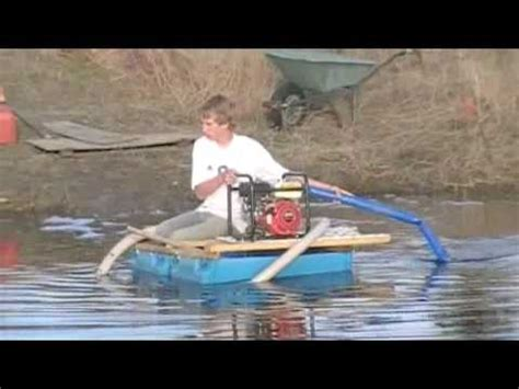 How To Make A Jet Boat Out Of Paper by How To Make A Barrel Boat With Jet Pump Youtube