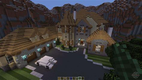 minecraft mountain mansion zion modern house