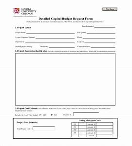 budget request form sample capital expenditure budget With capital expenditure justification template