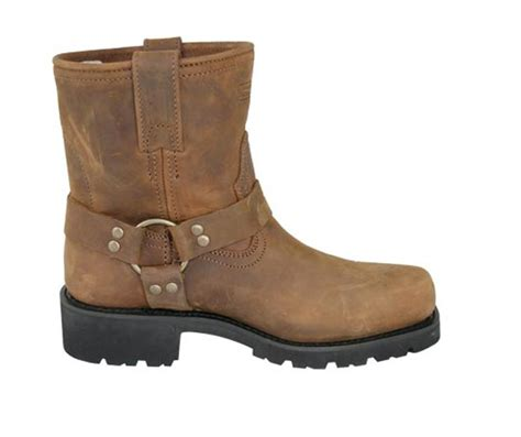 mens brown biker boots men 39 s short harness brown leather motorcycle boots