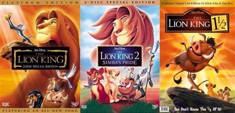 Lion King Dvd Series Trilogy Set Includes All 3 Movies