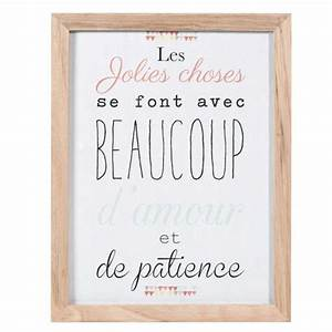 cette phrase en affiche personnalisee tableau en bois With affiche chambre bébé avec robe vintage fleur