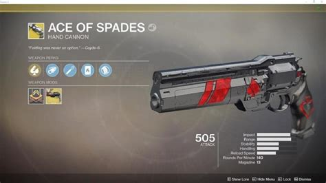 destiny 2 forsaken how to get the ace of spades cannon gamecrate