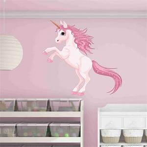 pretty pink unicorn wall decal style and apply With beautiful pink and green wall decals