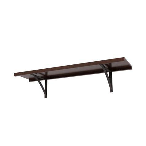 allen roth shelf shop allen roth 48 in w x 16 in d java wood closet shelf