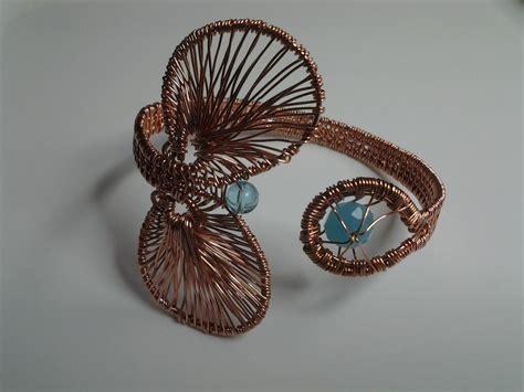 copper wire weave cuffs  craftsy