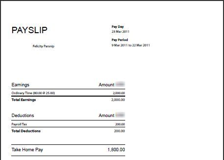 Editable Payslip Template by Templates On