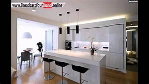 Küche Weiß Hochglanz : wohnideen k che wei hochglanz schwarze barhocker ~ Watch28wear.com Haus und Dekorationen