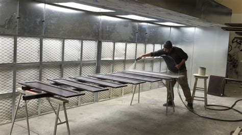 open downdraft spray booth requires  air makeup ideal