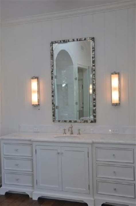 Mother of Pearl Tiles - Transitional - bathroom - Real
