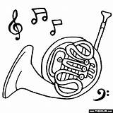 Horn French Coloring Horns Instruments Pages Drawing Musical Instrument Ram Piccolo Colouring Brass Clip Them Getdrawings Visit Drawings Rams Library sketch template