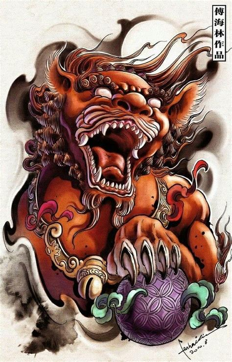 foo doglion guardian oriental tattoo design tattoos