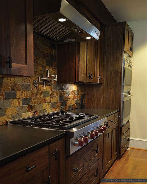 brown gray subway slate backsplash tile backsplash com