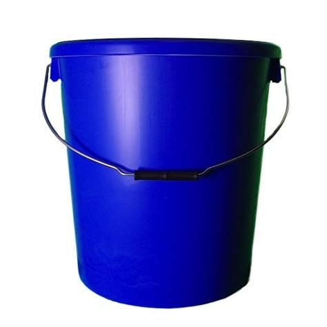 metal basket with handle 25l blue plastic buckets with lids h o plastics