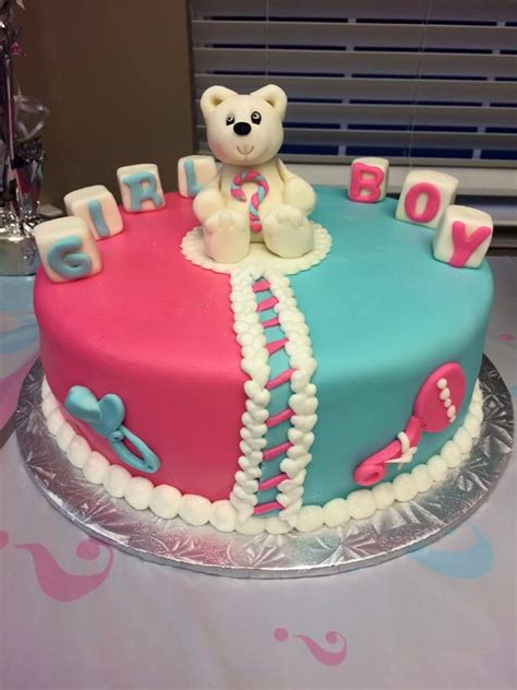 Baby Shower Gender Reveal by Baby Gender Reveal Teddy Baby Shower Cake