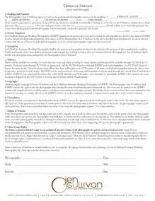 wedding photography contract photography contracts free printable documents