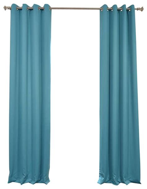 turquoise blue grommet blackout curtain traditional curtains