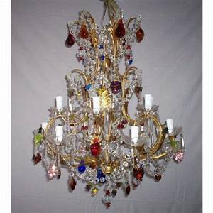 Lustre à Pampilles : lustre artisanal pampilles de verre de murano i ~ Teatrodelosmanantiales.com Idées de Décoration