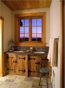 homey country rustic bathroom by helgerson