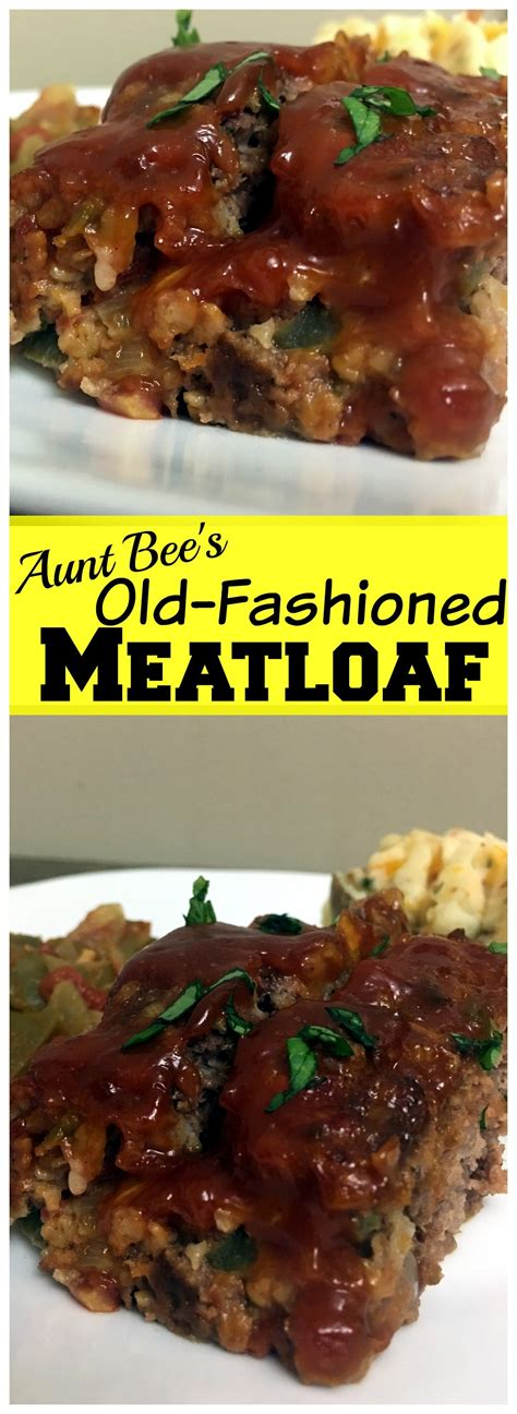 Cooking meatloaf requires an oven temperature at least 400 degrees fahrenheit. Old-Fashioned Meatloaf - Aunt Bee's Recipes