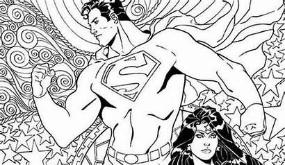 Coloring Dc Wonder Superman Comics Woman Covers