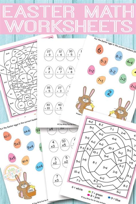 easter math worksheets free easter and prints