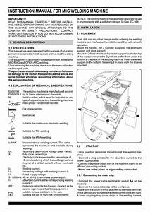 Instruction Manual For Mig Welding Machine