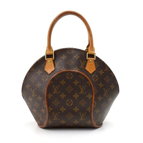 louis vuitton ellipse vintage pm monogram hand brown canvas hobo bag tradesy