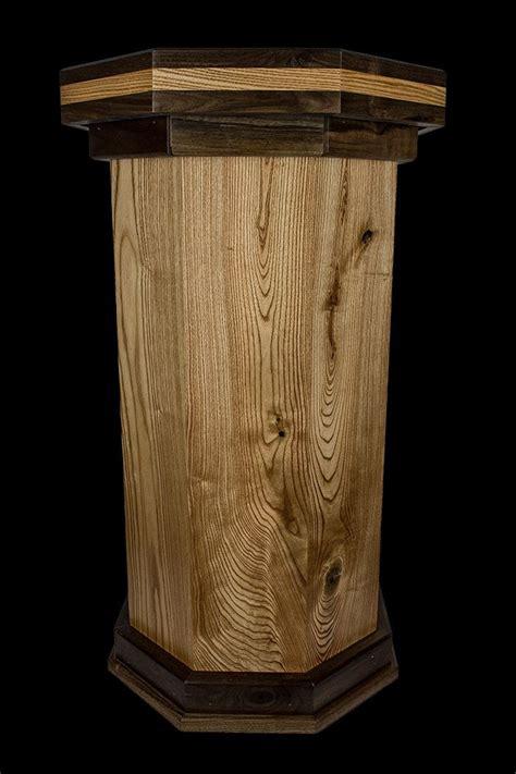 wooden taxidermy pedestals coffee wood walnut  tone