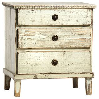White Distressed Nightstand by Black Distressed 3 Drawer Nightstand White Farmhouse