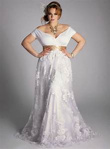 White casual plus size wedding dresses design ideas for Plus size white wedding dresses