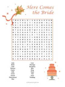 bridal shower gift ideas for guests wedding word search