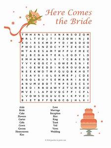 wedding word search With wedding shower word search