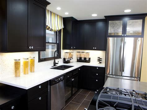 pictures  kitchens  black cabinets home furniture