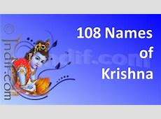 108 Names of Lord Krishna Hare Krishna