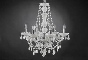 Lustre à Pampilles : lustre trianon blanc 6 lampes pampilles amadeus amadeus 19282 ~ Teatrodelosmanantiales.com Idées de Décoration