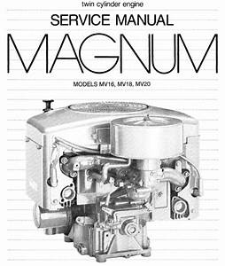 Kohler Magnum Mv16 Mv18 Mv20 Service Repair Manual Twin