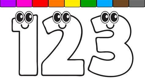 learn colors  kids   numbers coloring page