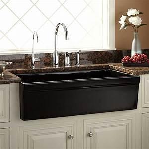 36quot Gallo Fireclay Farmhouse Sink Black Kitchen